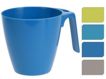 купить Набор чашек с ручкой 4шт, D9cm, H9cm , пластик, 4 цвета в Кишинёве
