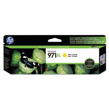 HP 971XL High Yield Yellow Original Ink Cartridge, up to 6600 pages