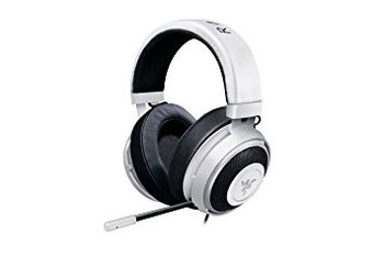 RAZER Kraken Pro V2 Oval (White) /  Analog Gaming Headset, Passive Noise-cancelling retractable Microphone, Oval Ear Cushions, in-line Remote, Cross-platform compatibility (Mobile/PC/Xbox/PS4), 1.3+2 m detachable cables, 3.5 mm combined jack