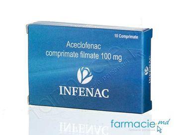купить Infenac comp. film. 100 mg N10 в Кишинёве