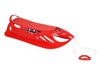 cumpără Sanie din plastic, 92.5X44X22cm, rosie în Chișinău