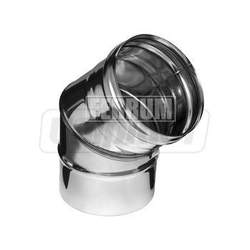 купить Отвод дымохода dn150 х 45° 0.8 мм FERRUM fm07.150.2.F в Кишинёве