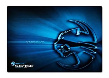 ROCCAT Sense (Chrome Blue) / High Precision Gaming Mousepad, Dimensions: 400 x 280 x 2 mm, Rubberized backing, Friction-reducing microcrystalline coating, Optimized gaming surface