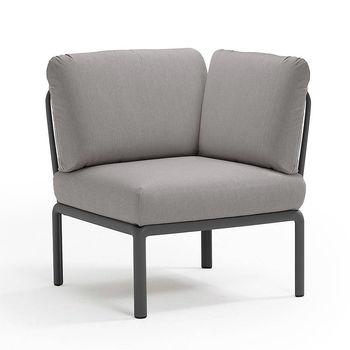 Кресло модуль угловой с подушками Nardi KOMODO ELEMENTO ANGOLO ANTRACITE-grigio 40374.02.163