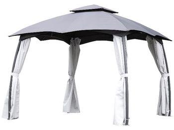 """Cort-pavilion cu perdea si ventilare """"Party"""" 3X3X2.7m, gri"""