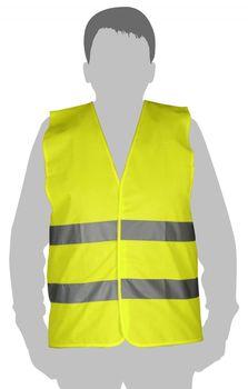 купить Жилет светоотражающий (желтый) - L   TOLSEN в Кишинёве