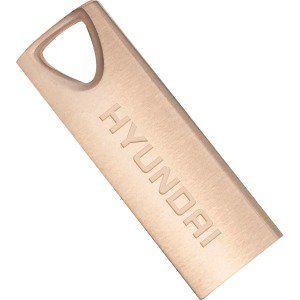16GB USB2.0  Hyundai Bravo Deluxe Metal casing, Rose Gold, Compact and lightweight, (Read 18 MByte/s, Write 10 MByte/s)