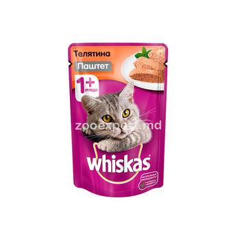 Whiskas паштет с телятиной