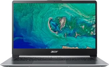 "ACER Swift 1 Sparkly Silver (NX.GXUEU.007), 14.0"" IPS FHD (Intel® Pentium® Silver N5000 4xCore up to 2.70 GHz, 4GB (1x4) DDR4 RAM, 128GB PCIe SSD, Intel® UHD Graphics 605, CR, WiFi-AC/BT, FPR, Backlit KB, 3cell, HD Webcam, RUS, Linux, 1.3kg, 15mm)"