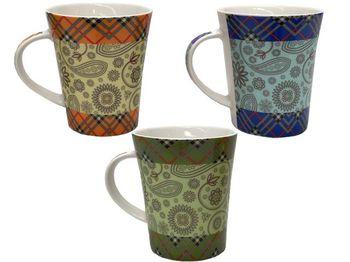 купить Чашка конус с цветным орнаментом 200ml в Кишинёве