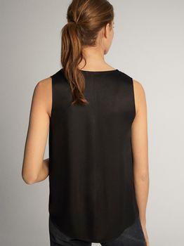 Блуза Massimo Dutti Чёрный 5707/789/800