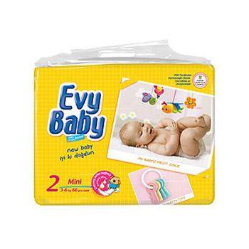 Evy Baby подгузники 2 (3-6 кг) (60 шт.)