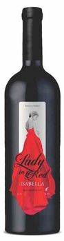 "Vinuri de Comrat Lady in Red ""Isabella""  demidulce roșu,  0.75 L"