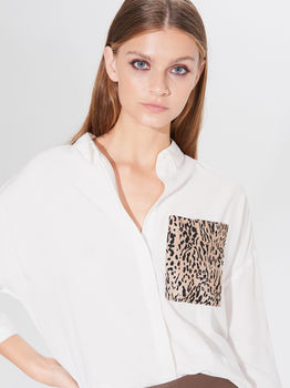 Блуза MOHITO Белый wq027-01x
