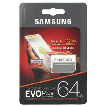 "купить Карта памяти MicroSD Samsung EVO Plus ""MB-MC64GA"" в Кишинёве"