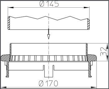 купить Дренажное кольцо из полипропилена для воронок HL160 M в Кишинёве