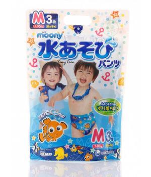 купить Трусики для плаванья Moony M (7-10 кг) для мальчиков 3 шт в Кишинёве