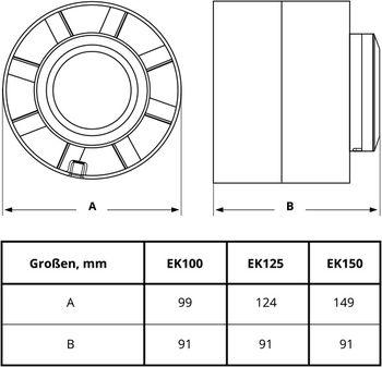 купить Вентилятор канальный осевой Ø150 E-EXTRA EK150  200 м3/ч в Кишинёве
