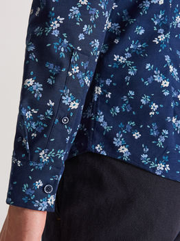 Рубашка RESERVED Синий в цветочек xl630-59x