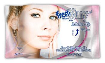 Салфетки влажные FreshRuny make-up 20
