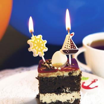 Свечи для торта Кораблики, 5шт.