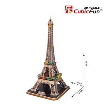 купить CubicFun пазл 3D Eiffel Tower Led в Кишинёве