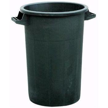 купить Урна мусорная с крышкой - 50 л,  пластик (черный) STP в Кишинёве