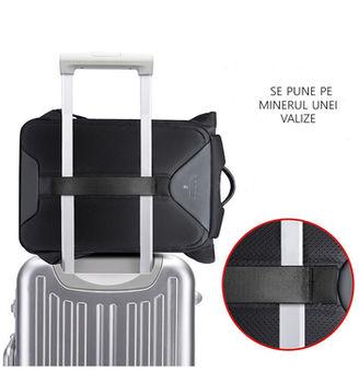"""купить Рюкзак BANGE G66 для ноутбука дo 15.6"""", водонепроницаемый, черный в Кишинёве"""