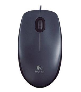 Logitech M100 Optical Mouse, Grey, USB