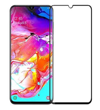 Защитное стекло Cover'X для Samsung A70 3D (full covered) Black