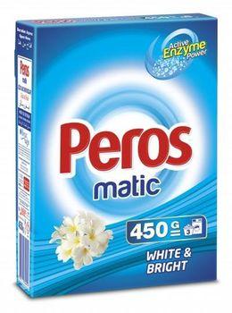 Стиральный порошок для автоматической стирки PEROS 450гр. White & Bright