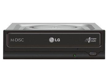 DVDRW Drive LG GH24NSD5, Internal, Super-Multi DVDR+24x/-24x, RW+8x/-6x, DL+8x, RAM12x, SATA, Black, bulk
