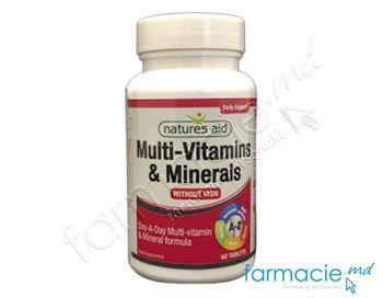 cumpără A-Z Multivitamine+Minerale VEGAN comp.N60 (fara fier) Natures Aid în Chișinău