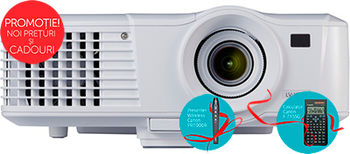 MMProjector Canon LV-X320 + Gift Kit, DLP 3D, 4:3 WXGA (1280x800), 10000:1 (full on/full off), 3200Lm, 6000hrs (Eco), 1.1x zoom lens, HDMI and 2x VGA ports, RJ-45 (100BASE-TX / 10BASE-T) port, 10W speaker, Remote control, White, 2.5kg