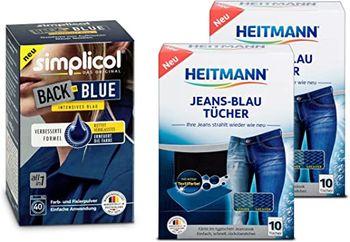 SIMPLICOL Back-to-BLUE Vopsea pentru reimprospatarea/revigorarea culorii in masina de spalat (albastru), 400 g