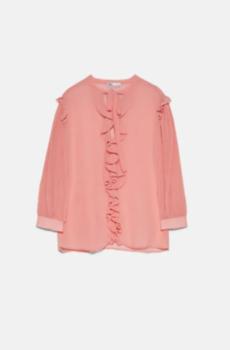 Блуза ZARA Светло розовый 3666/042/623