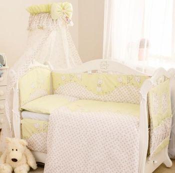 Постельный комплект Comfort С-032 Котята, бело-зеленый, код 42099
