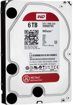 6.0TB  Western Digital WD60EFRX Caviar® Red™ NAS, IntelliPower, 64MB, SATAIII