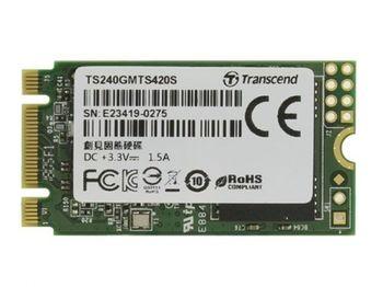 """.M.2 SATA SSD  240GB Transcend """"TS240GMTS420S"""" [42mm, R/W:560/500MB/s, 65K/85K IOPS, SM2258, 3D TLC]"""