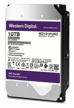 """3.5"""" HDD 10.0TB-SATA- 256MB Western Digital  """"Purple Surveillance"""