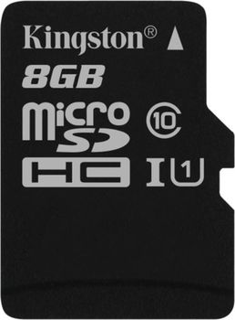 Kingston 8GB microSDHC Class10 UHS-I, 300x, Up to: 45MB/s