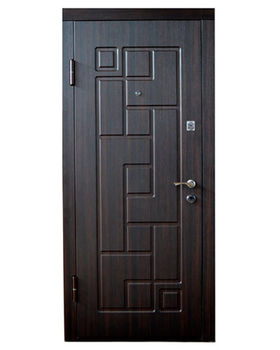 Дверь металлическая Diplomat DT-6 960x2050x70 мм венге