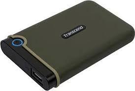 """2,0 ТБ (USB3.1) 2,5 """"Transcend"""" StoreJet 25M3G """"Slim, зеленый в стиле милитари, резиновая защита от ударов, резервное копирование OT"""