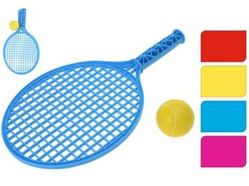 Set pentru tenis pentru copii : palete cu maner 39 cm + minge, plastic