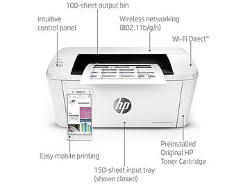 Printer HP LaserJet Pro M15w, A4, 600x600dpi, HP FastRes 600 (600 dpi quality), 19ppm, 16MB, Wifi 802.11b/g/n, USB 2.0, Cartridge CF248A HP 48A (1000 pages), Starter cartridge 500 pages, included USB cable www