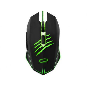 Esperanza CLAW MX209, Optical Mouse for professional game players, 6D, 800/1200/1600/2400 DPI, illuminated, braided cable 1.5m, USB, Green