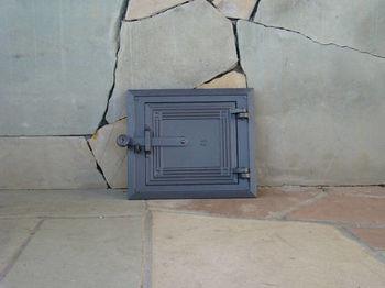 Дверца чугунная глухая инспекционная правая со вставкой DPK5W