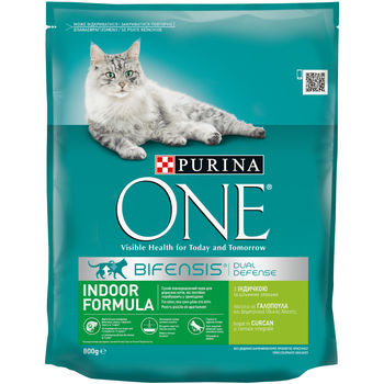 купить Purina One Indoor Formula Cat Turkey  800 gr в Кишинёве
