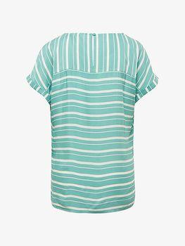 Блуза TOM TAILOR Бирюзовый в полоску 1010676 17357