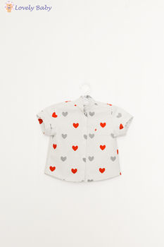Рубашка с красными сердечками